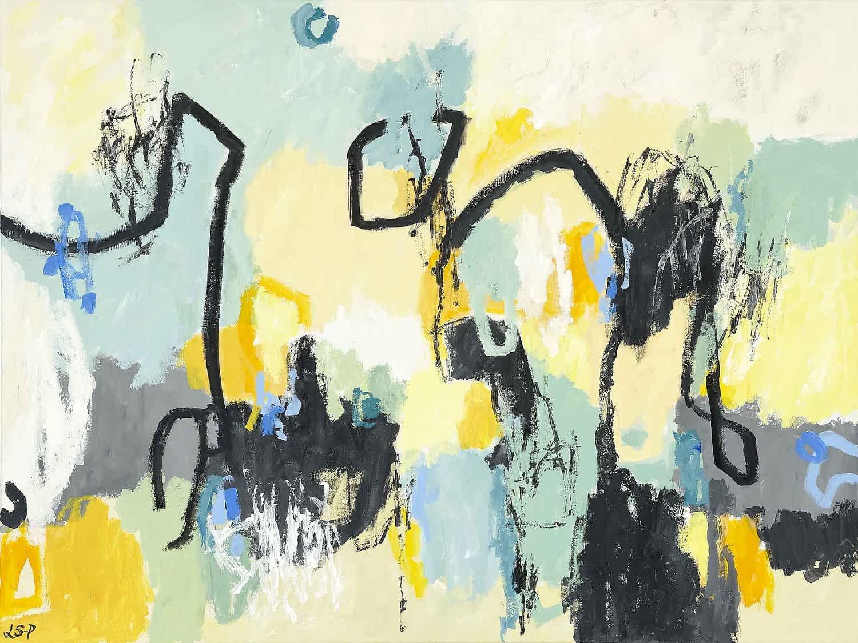 """Lene Schmidt-Petersen: """"I udkanten af bevidstheden"""" (120x90 cm)"""
