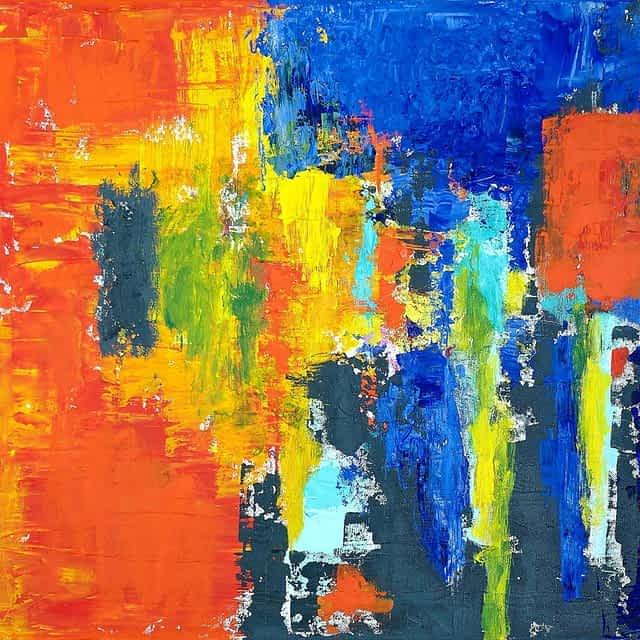 """Lene Schmidt-Petersen: """"Farven trænger sig på II"""" (80x60 cm)"""