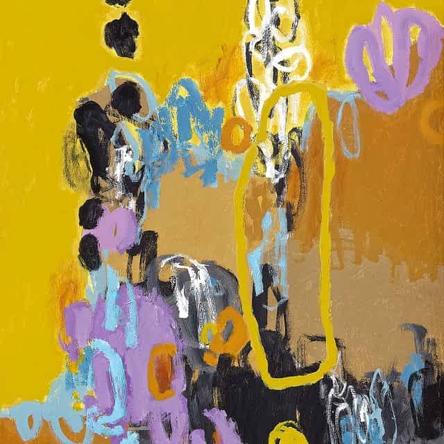 "Lene Schmidt-Petersen: ""Tillidsfuld intuition"" (60x80 cm)"