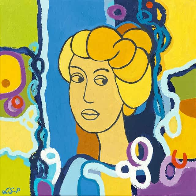 """Lene Schmidt-Petersen: """"Clara"""" (50x50 cm)"""