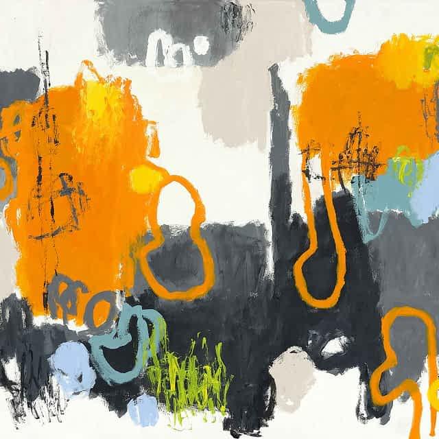 "Lene Schmidt-Petersen: ""Bid livet i struben"" (120x90 cm)"
