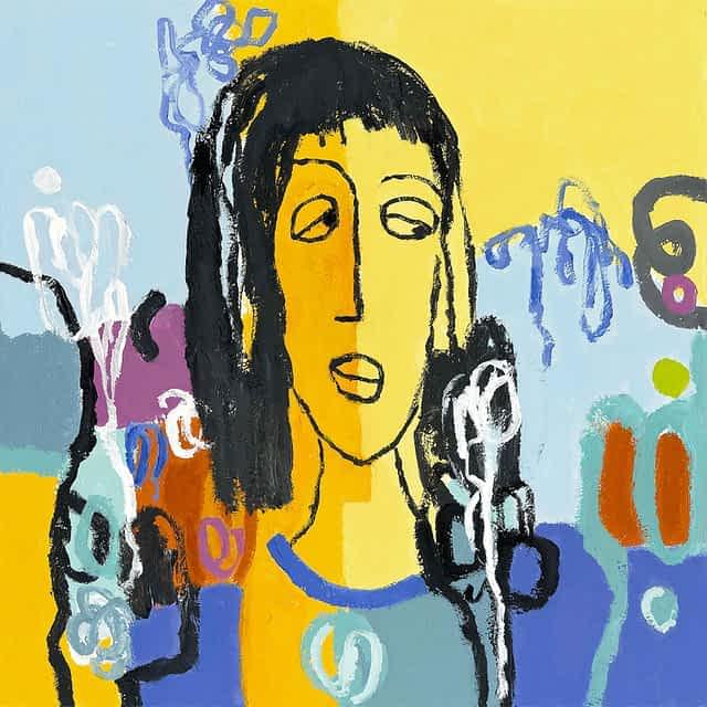 "Lene Schmidt-Petersen: ""Louise"" (60x60 cm)"