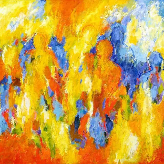 """Lene Schmidt-Petersen: """"Farven brister med lyset"""" (150x100 cm)"""