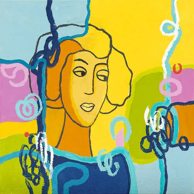 "Lene Schmidt-Petersen: ""Sara"" (50x50 cm)"
