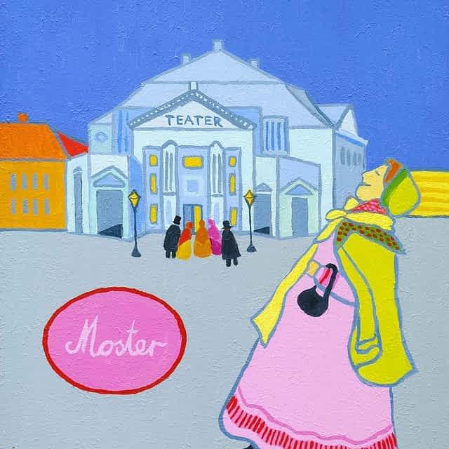 """Lene Schmidt-Petersen: """"Moster"""" (30x40 cm)"""