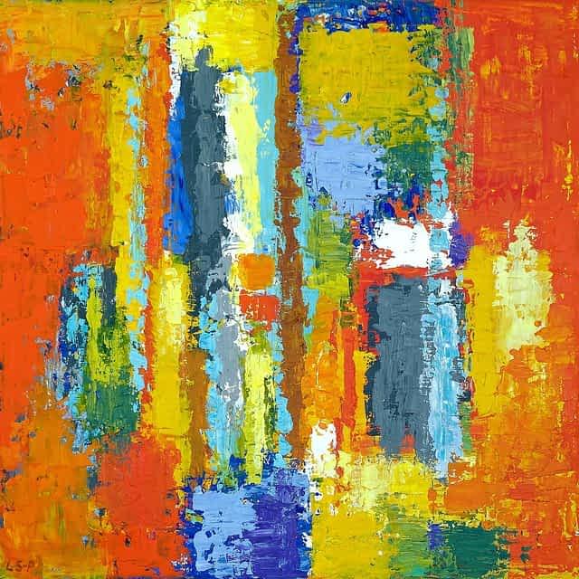 "Lene Schmidt-Petersen: Komposition ""Fulgora"" (60x60 cm)"