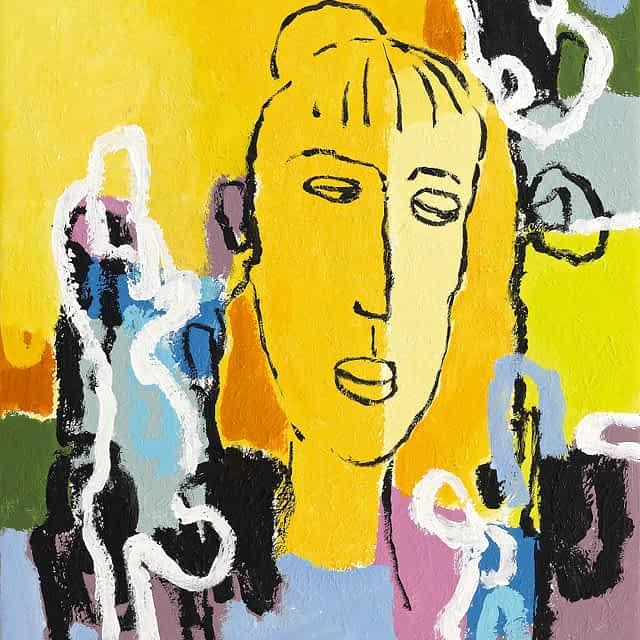 "Lene Schmidt-Petersen: ""Anne Marie"" (50x57 cm)"