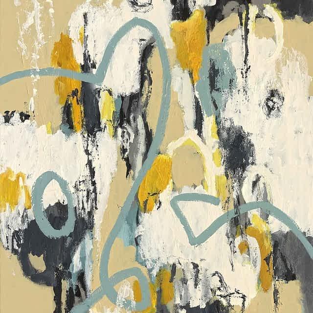 """Lene Schmidt-Petersen: """"Sandheden holdt verden sammen"""" (60x80 cm)"""