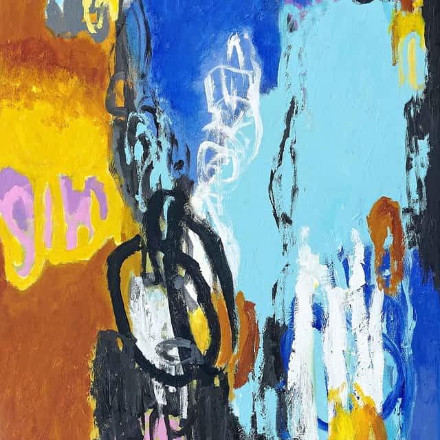 """Lene Schmidt-Petersen: """"Den afklarende visualisering"""" (60x80 cm)"""