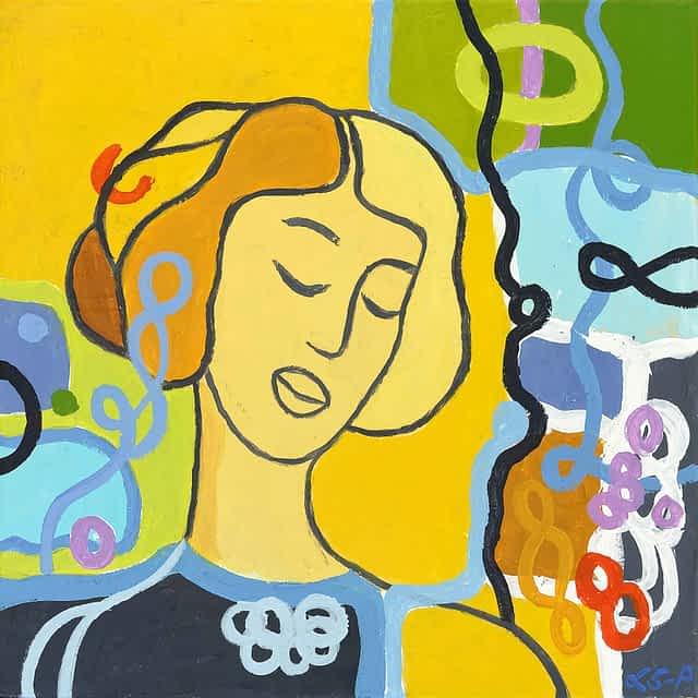 "Lene Schmidt-Petersen: ""Lilli"" (40x40 cm)"