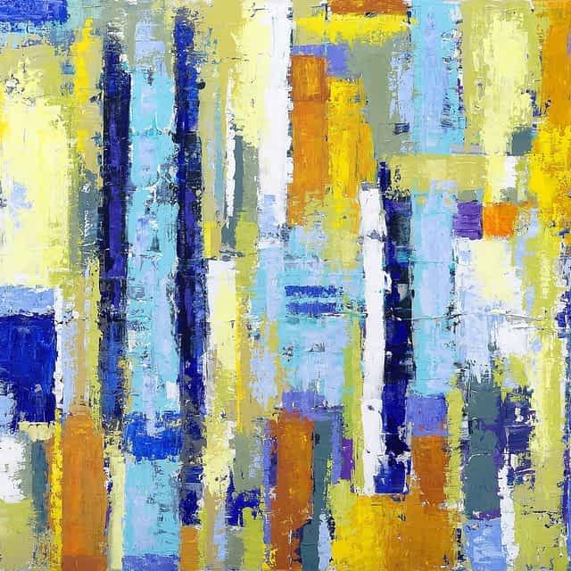 """Lene Schmidt-Petersen: Komposition """"Fagus"""" (120x100 cm)"""