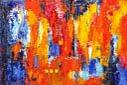 """Lene Schmidt-Petersen: Komposition """"Hebe"""" (150x100 cm)"""