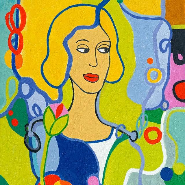"Lene Schmidt-Petersen: ""Sofia"" (65 x 80 cm)"