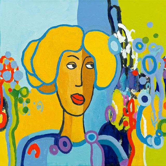 """Lene Schmidt-Petersen: """"Alberte"""" (80 x 60 cm)"""