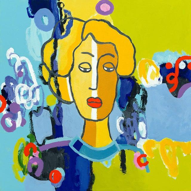 """Lene Schmidt-Petersen: """"Herma"""" (60 x 60 cm)"""