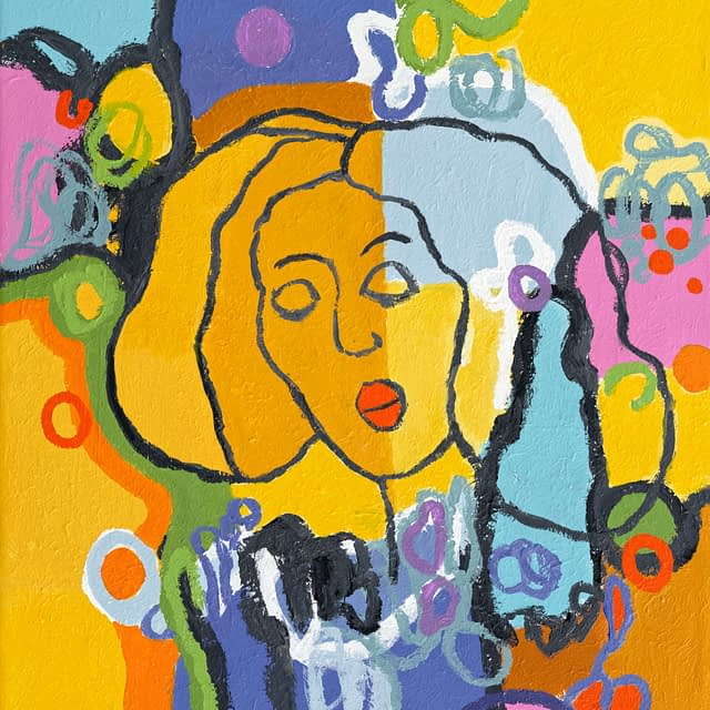 "Lene Schmidt-Petersen: ""Jenny"" (50x57 cm)"