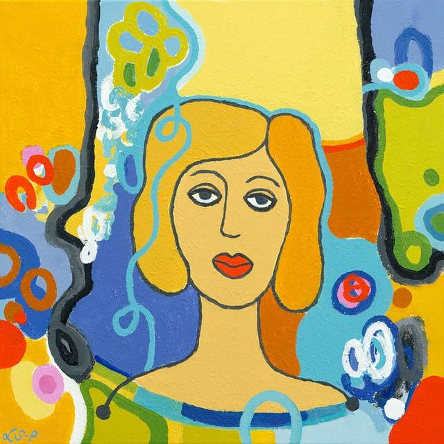 """Lene Schmidt-Petersen: """"Dina"""" (50 x 50 cm)"""