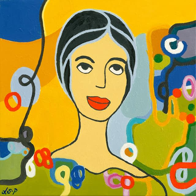 """Lene Schmidt-Petersen: """"Emma"""" (50x50 cm)"""
