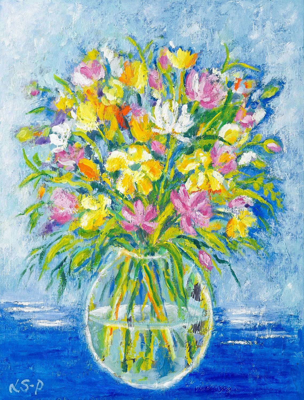 """Lene Schmidt-Petersen: """"Sunshine Flowers"""" (38 x 50 cm)"""