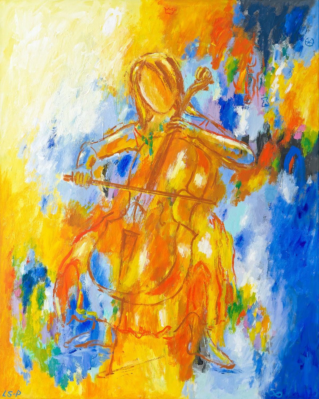 "Lene Schmidt-Petersen: ""Let's wander into the land of music"" (80 x 100 cm)"