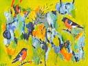 """Lene Schmidt-Petersen: """"Det afgørende for lykkefølelsen er at hengive sig til øjeblikket"""" (80x60 cm)"""