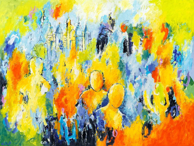 "Lene Schmidt-Petersen: ""De fornemmer mulighedernes dag"" (120x90 cm)"