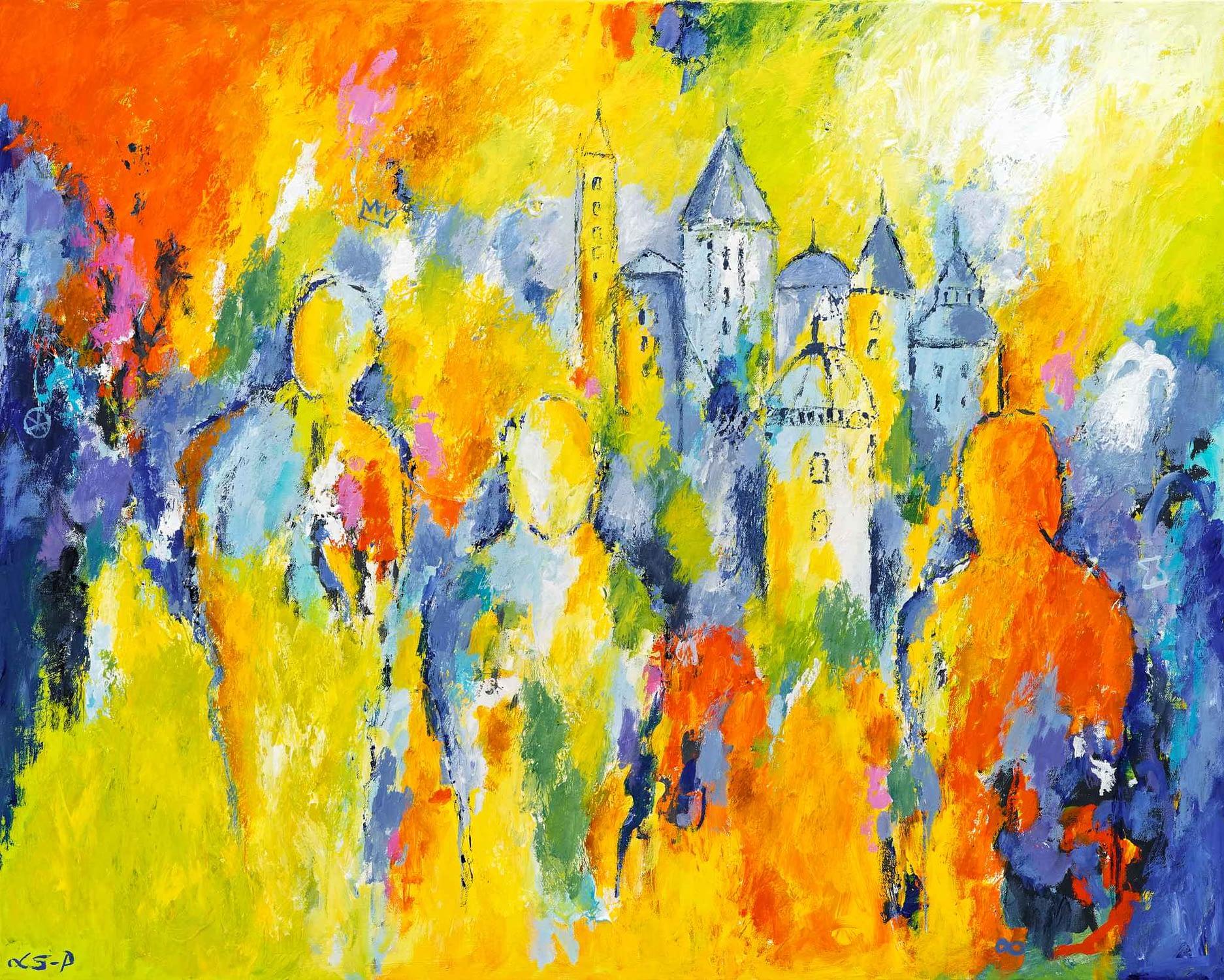 """Lene Schmidt-Petersen: """"Talking Cure"""" (100x80 cm)"""
