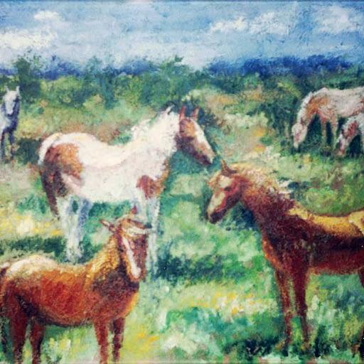 Hestemotiv til en rideskole