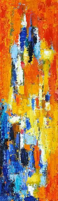 "Lene Schmidt-Petersen: Komposition ""Neptunalia"" (35x120 cm)"