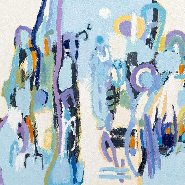 """Lene Schmidt-Petersen: """"En fortælling fra sjælens landskab"""" (92 x 73 cm)"""