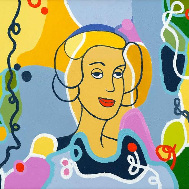 """Lene Schmidt-Petersen: """"Marigold"""" (80x60 cm)"""