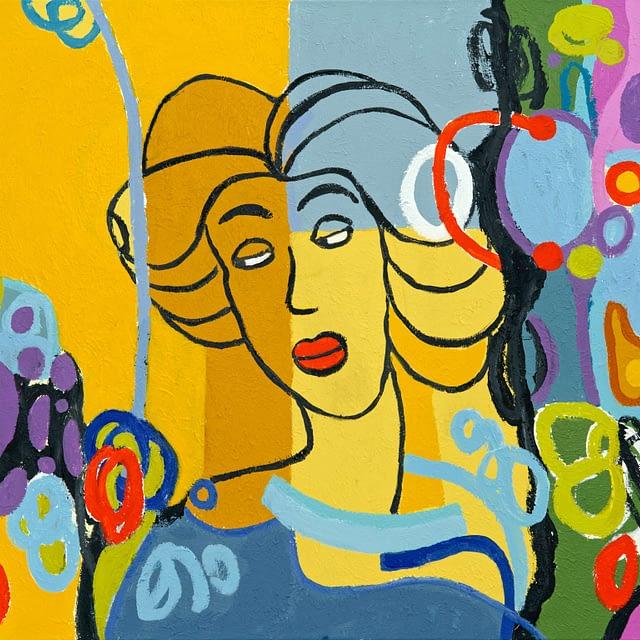 "Lene Schmidt-Petersen: ""Riborg"" (80x60 cm)"