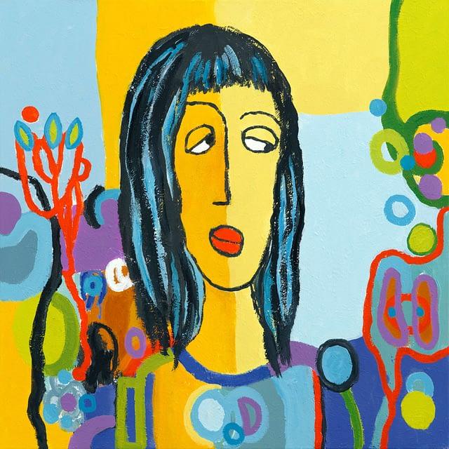 """Lene Schmidt-Petersen: """"Lisette"""" (60x60 cm)"""