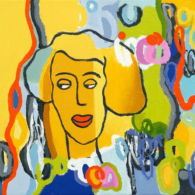 """Lene Schmidt-Petersen: """"Agnes"""" (57 x 50 cm)"""