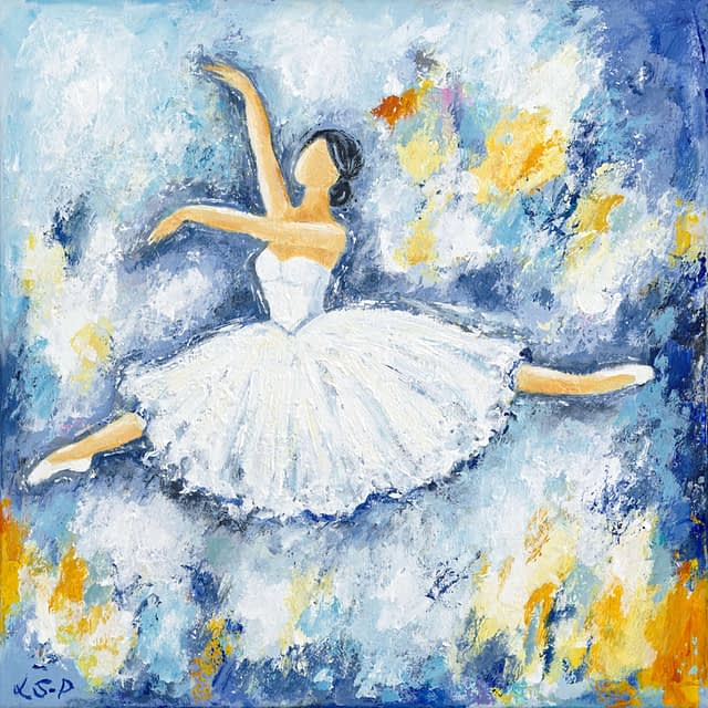 """Lene Schmidt-Petersen: """"Ballerina"""" (50 x 50 cm)"""