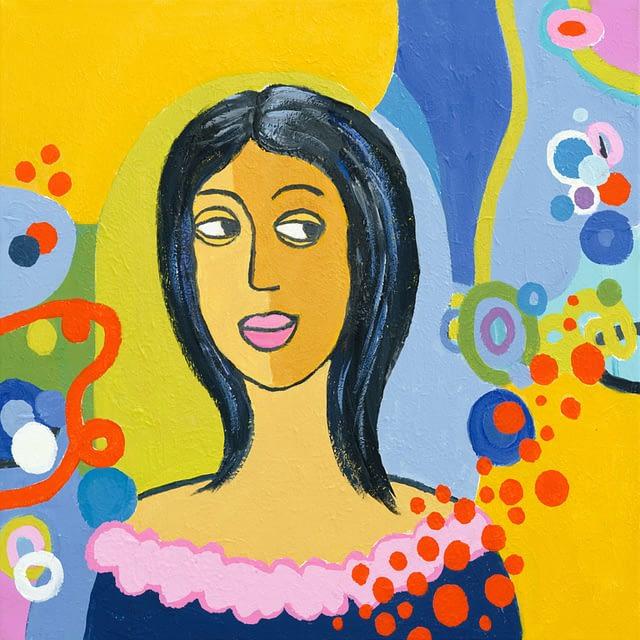 """Lene Schmidt-Petersen: """"Lisa"""" (50 x 50 cm)"""