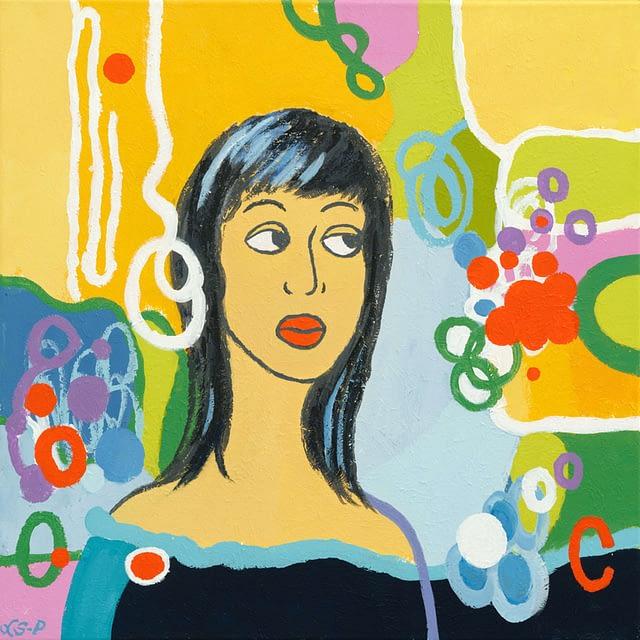 """Lene Schmidt-Petersen: """"Kirsten"""" (50 x 50 cm)"""