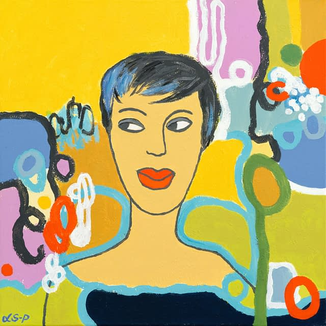 """Lene Schmidt-Petersen: """"Asta"""" (50x50 cm)"""