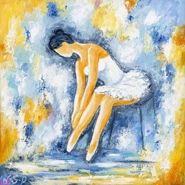 """Lene Schmidt-Petersen: """"Ballerina"""" (40 x 40 cm)"""