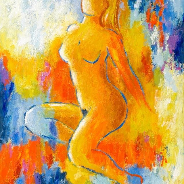 "Lene Schmidt-Petersen: ""Nude on a hot evening"" (60 x 80 cm)"