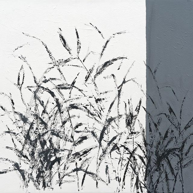 "Lene Schmidt-Petersen: ""Bambus"" (57 x 50 cm)"