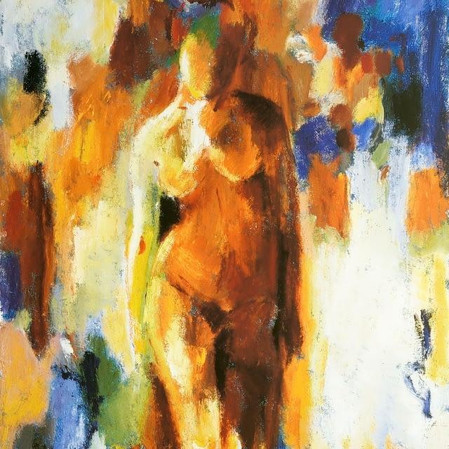 """Lene Schmidt-Petersen: """"Woman in warm colours II"""" (42 x 55 cm)"""