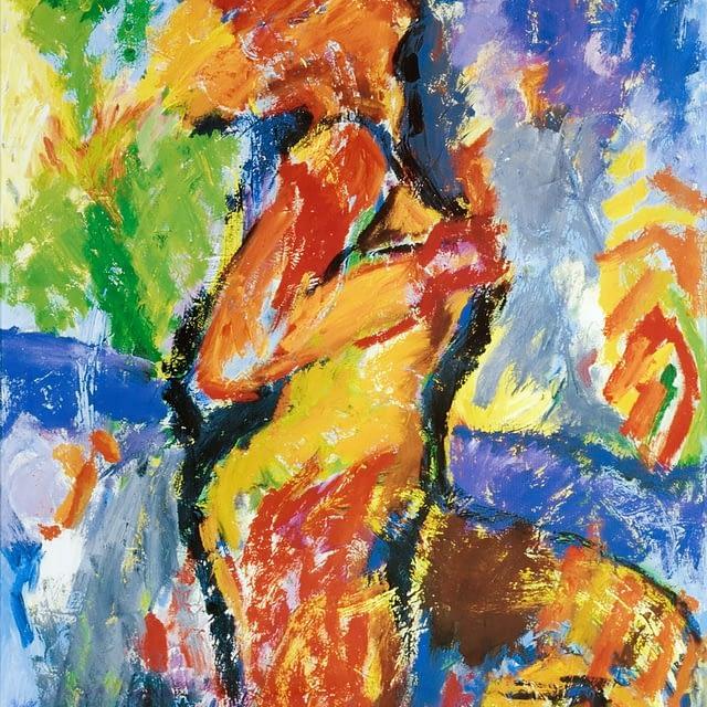 """Lene Schmidt-Petersen: """"En dejlig aften for den unge pige"""" (44 x 58 cm)"""