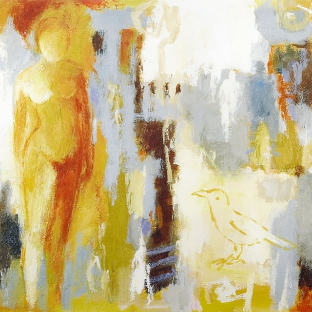 """Lene Schmidt-Petersen: """"Omsluttet af stjernestøvet"""" (60 x 40 cm)"""