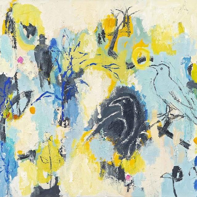 """Lene Schmidt-Petersen: """"Umiddelbar tilstedeværelse"""" (80x60 cm)"""