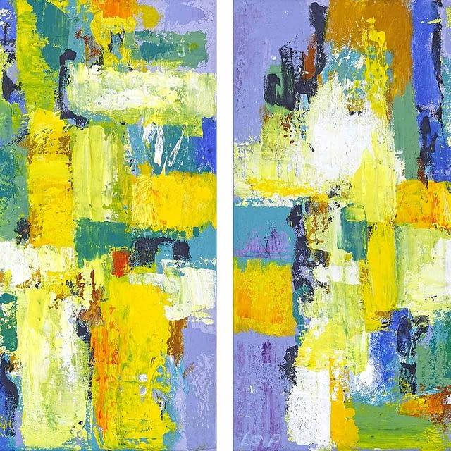 """Lene Schmidt-Petersen: """"Et flygtigt glimt af dagen"""" (I og II, 30x40 cm)"""