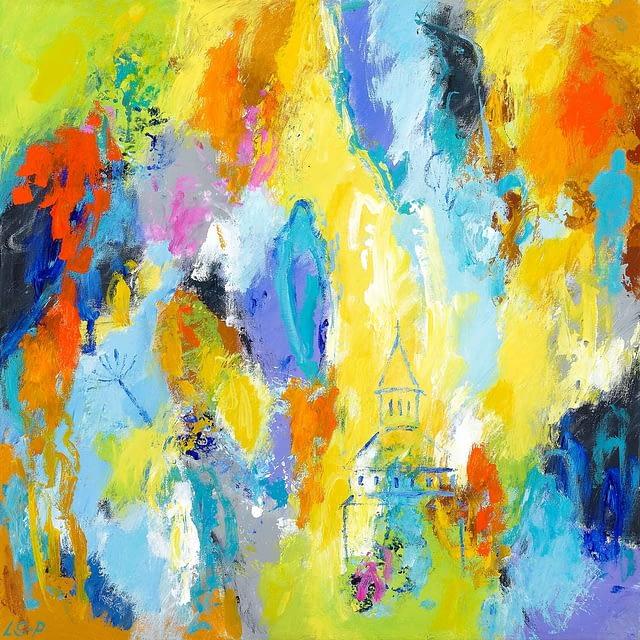 "Lene Schmidt-Petersen: ""De fandt harmonien et uventet sted"" (60x60 cm)"