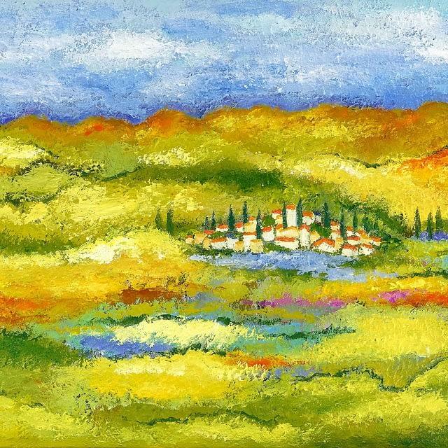 """Lene Schmidt- Petersen: """"Toscana"""" (80x60 cm)"""