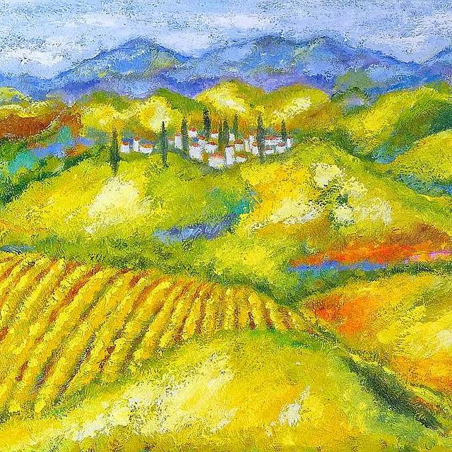 """Lene Schmidt-Petersen: """"Toscana"""" (150x60 cm)"""