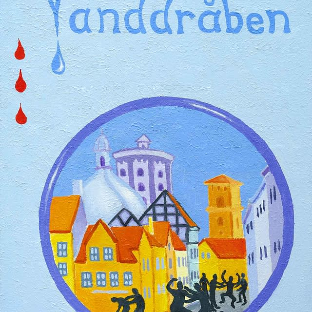 """Lene Schmidt-Petersen: """"Vanddråben"""" (30x40 cm)"""